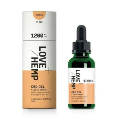 Love Hemp® 1200mg CBD Olaj cseppek – 30ml Valencia Orange